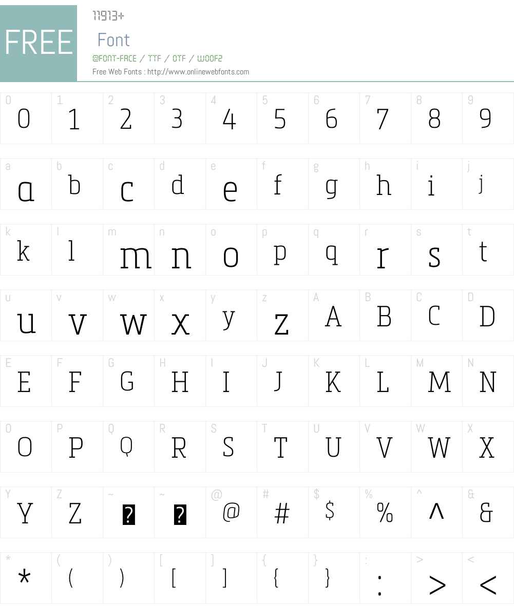 Metronic Slab Narrow Font Screenshots