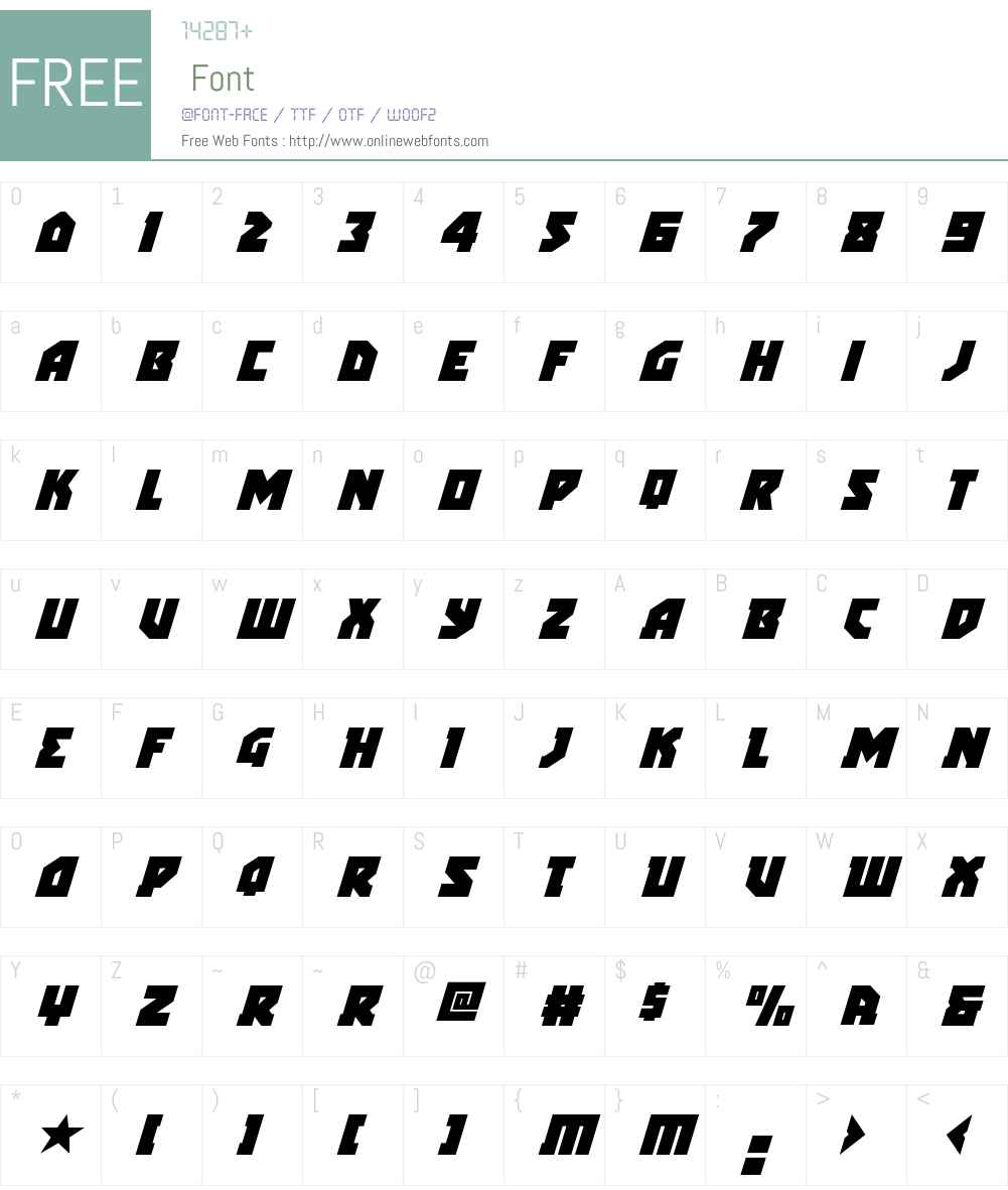 Arctic Guardian Super-Italic Font Screenshots