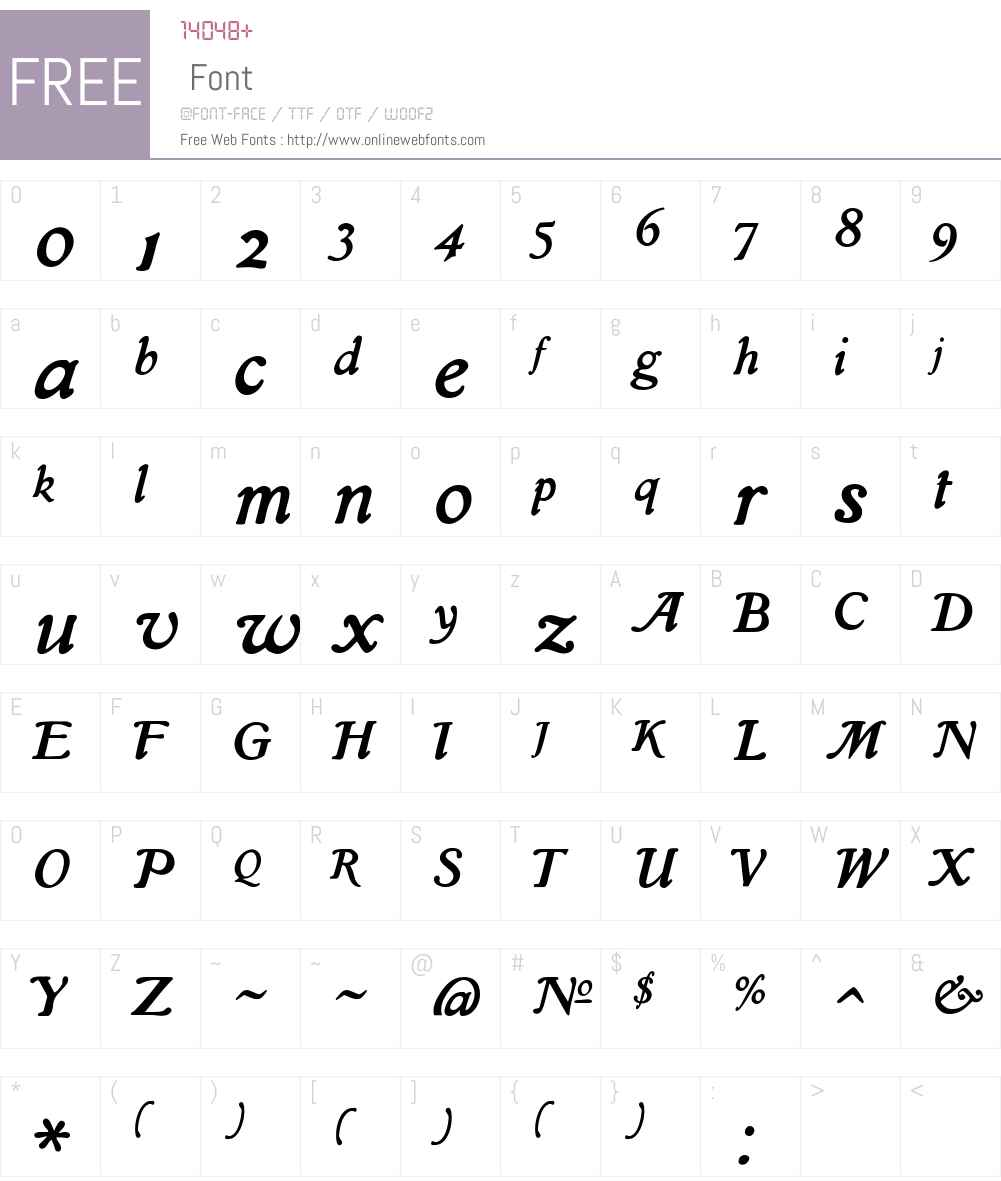 Isla Font Screenshots