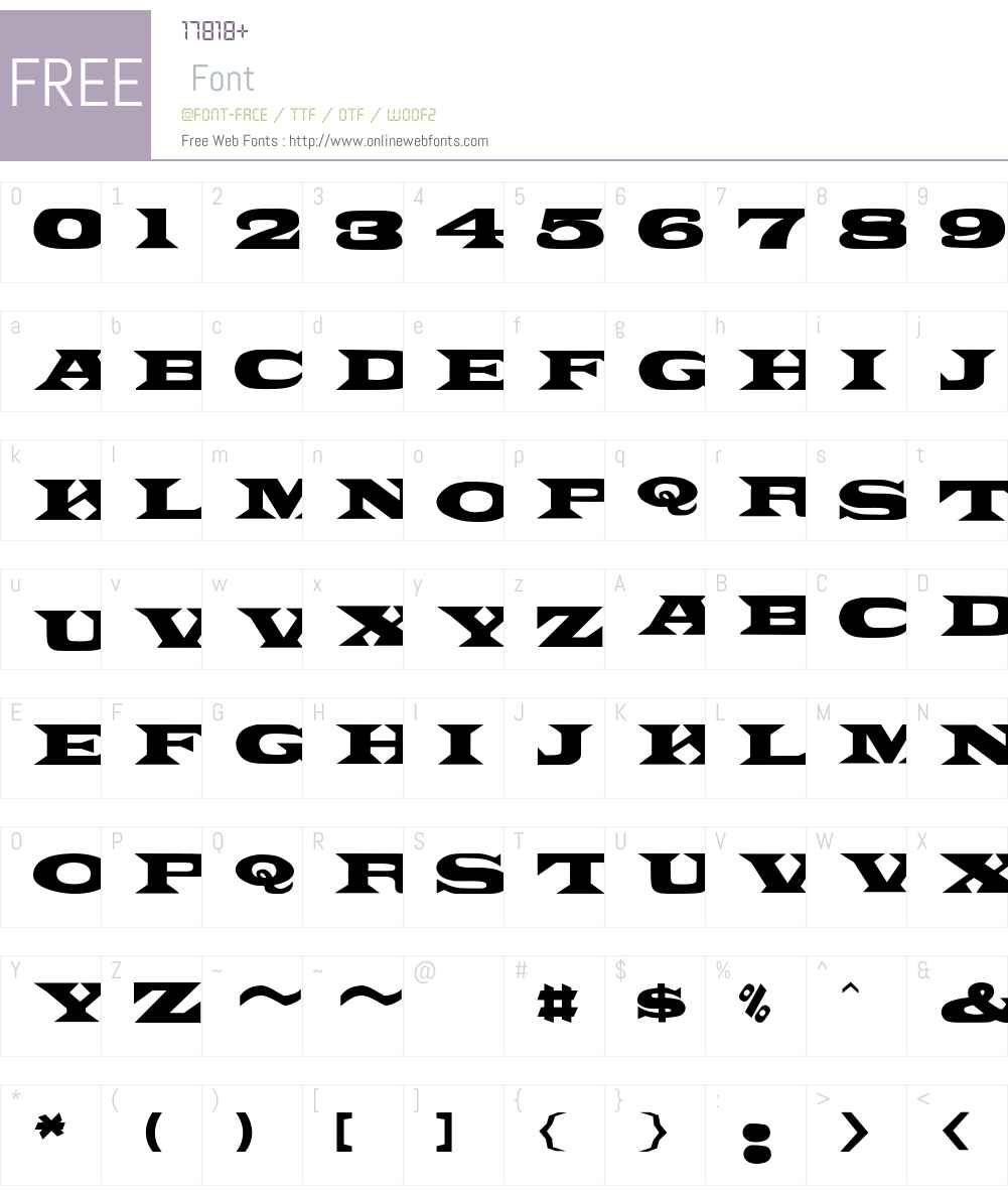 PonchoVia Font Screenshots
