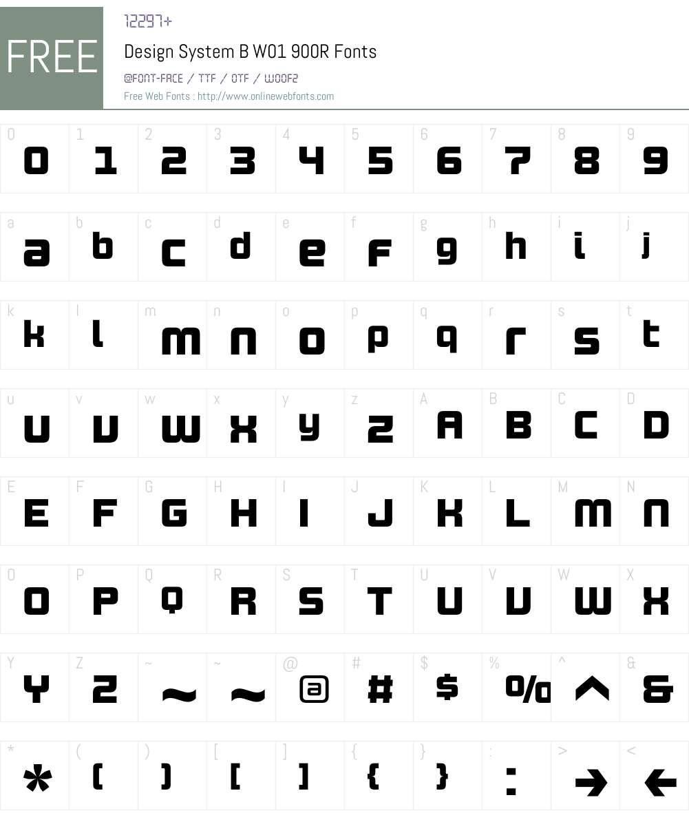 DesignSystemBW01-900R Font Screenshots