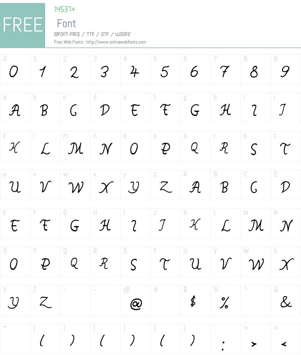 SingapurLight Font Screenshots