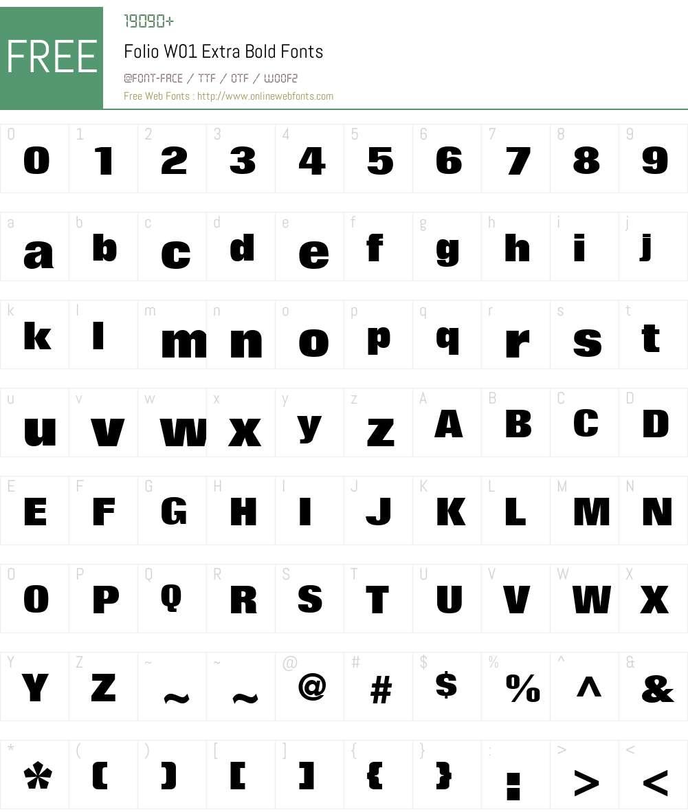 FolioW01-ExtraBold Font Screenshots