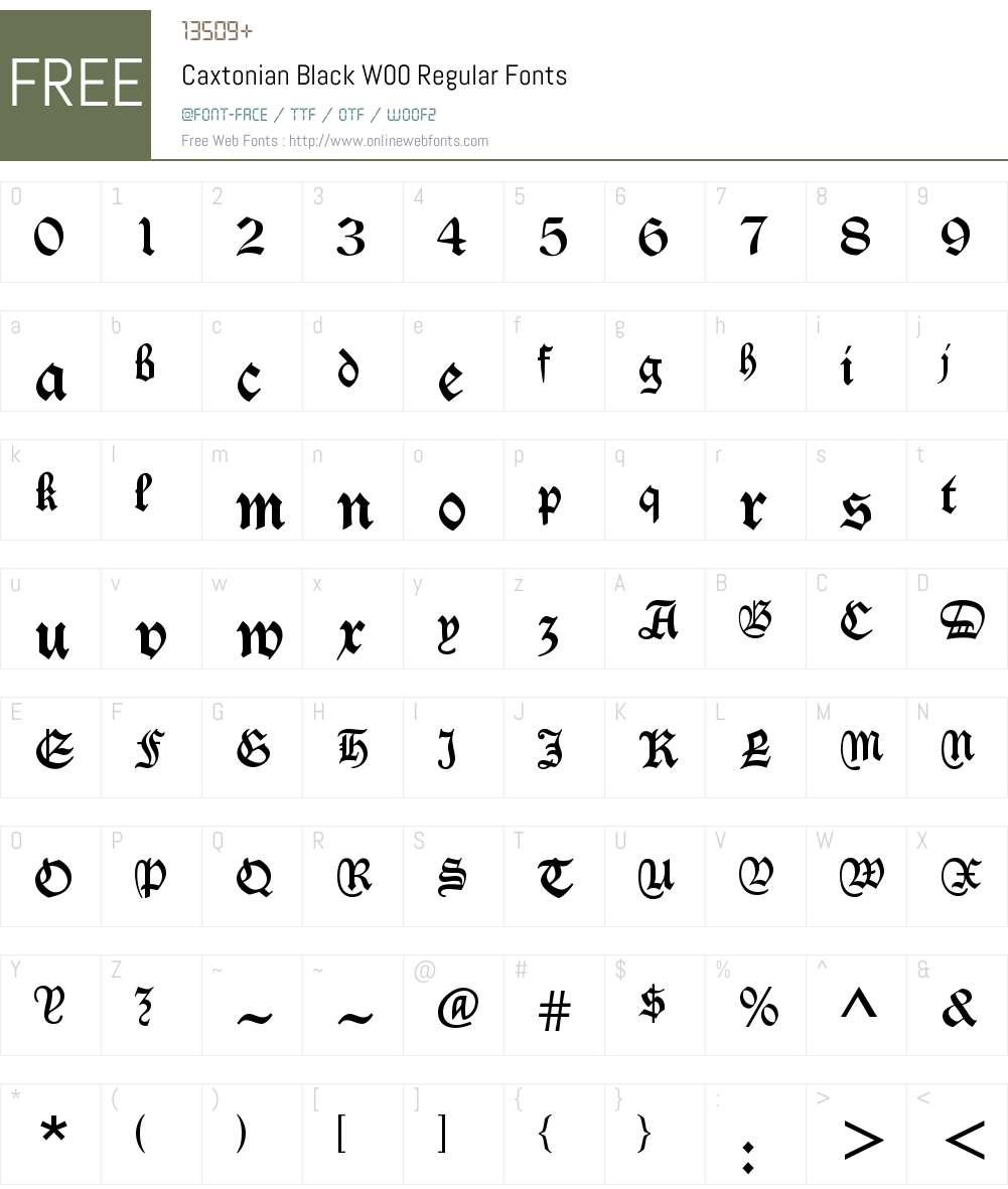 Caxtonian Black Font Screenshots