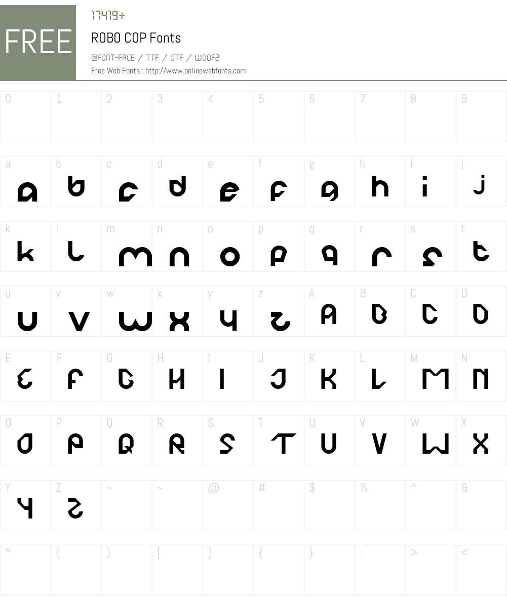 ROBO COP Font Screenshots