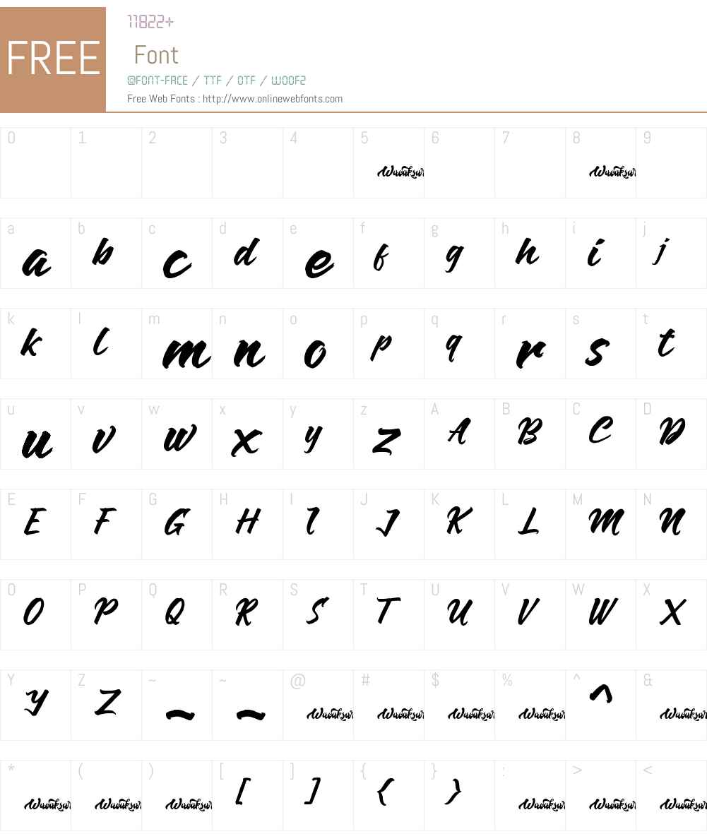 Anthares Demo Font Screenshots