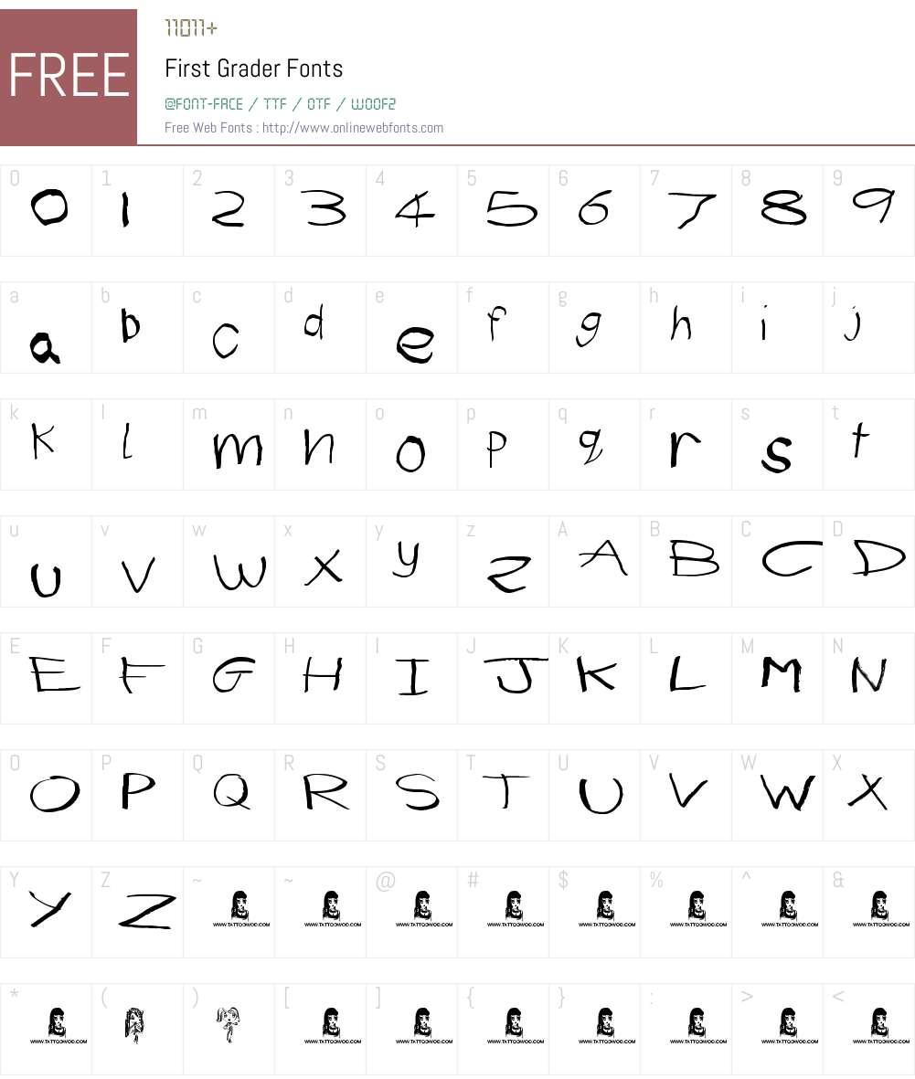 First Grader Font Screenshots