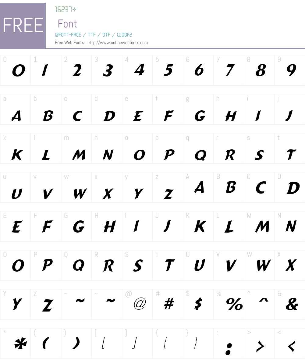 Candide Narrow Font Screenshots