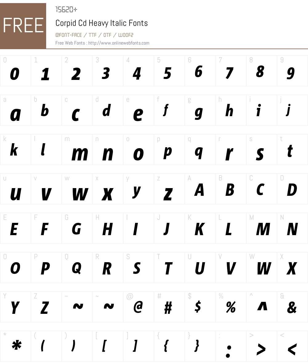 Corpid Cd Font Screenshots