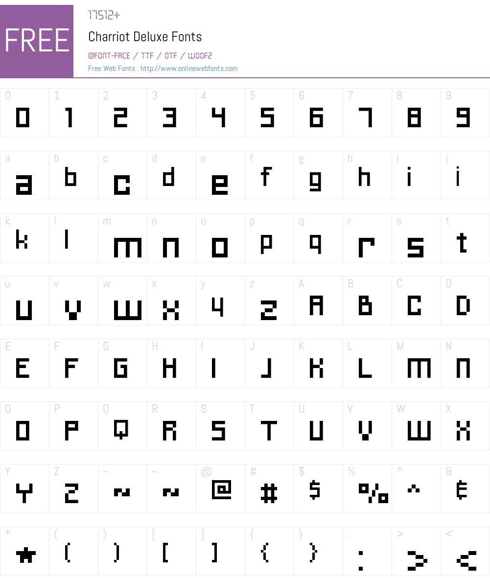 Charriot Deluxe Font Screenshots