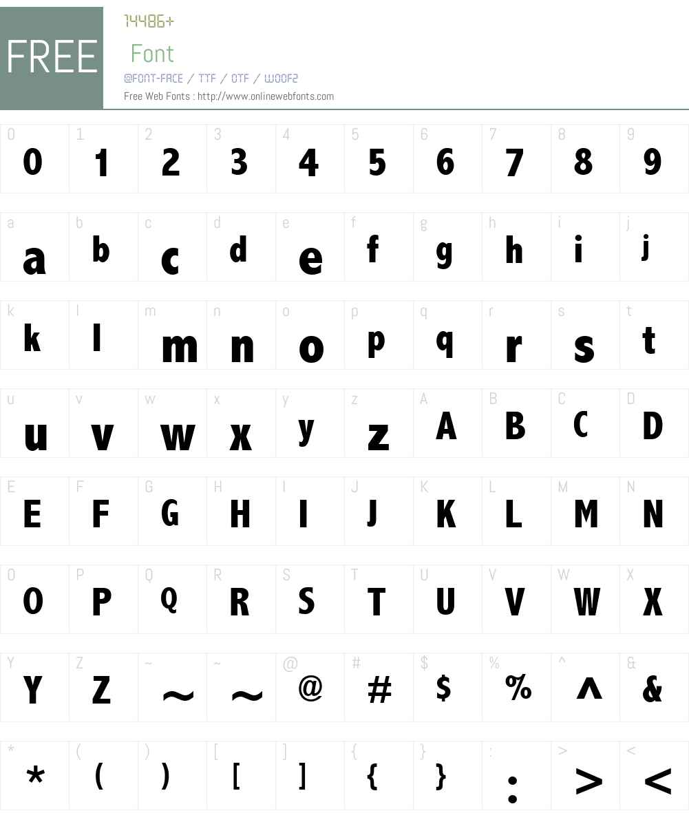AbadiMTW01-CondExtraBold Font Screenshots
