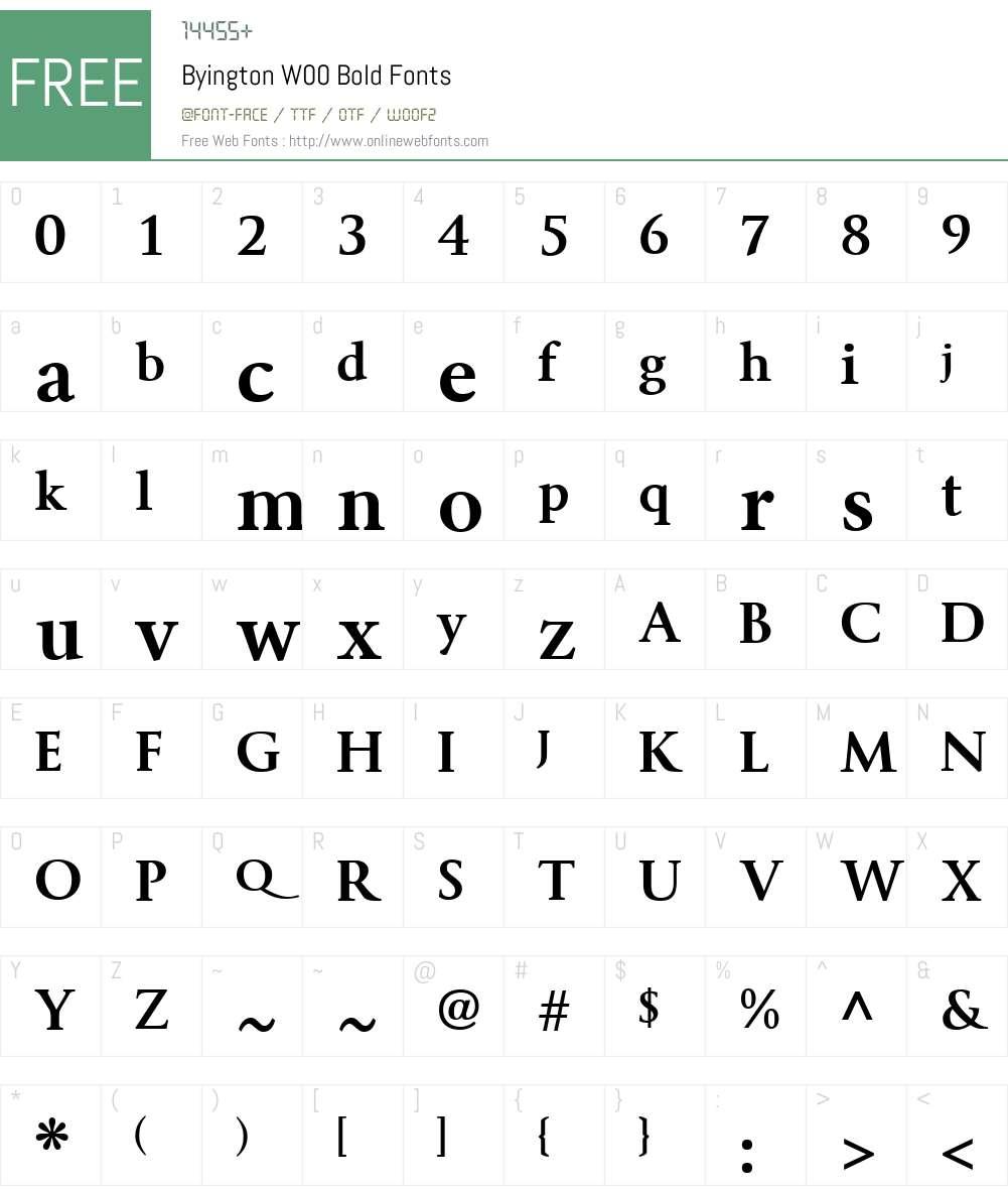 ByingtonW00-Bold Font Screenshots