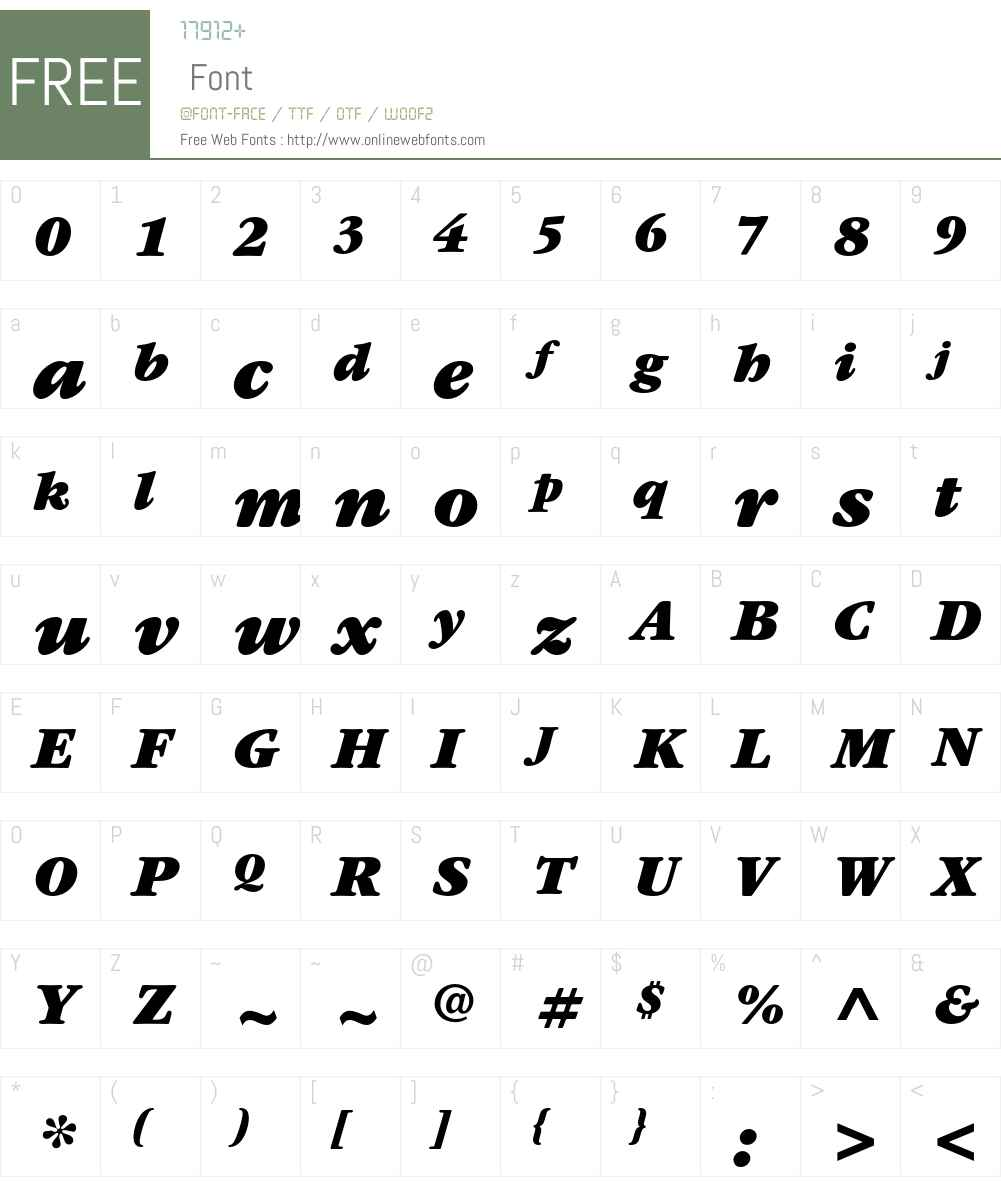 ITC Garamond Std Font Screenshots