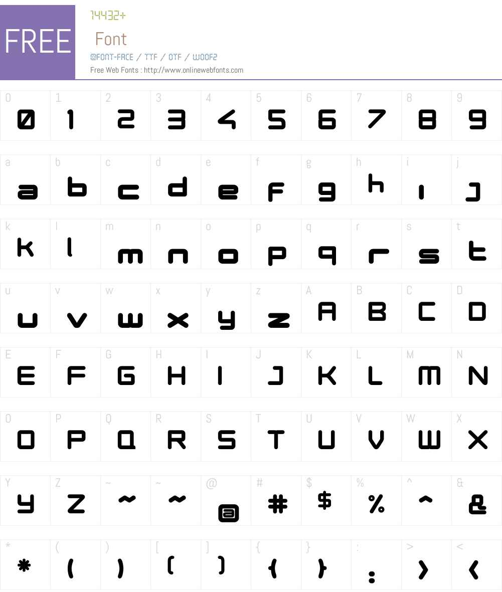 Phuture ODCUltra Font Screenshots