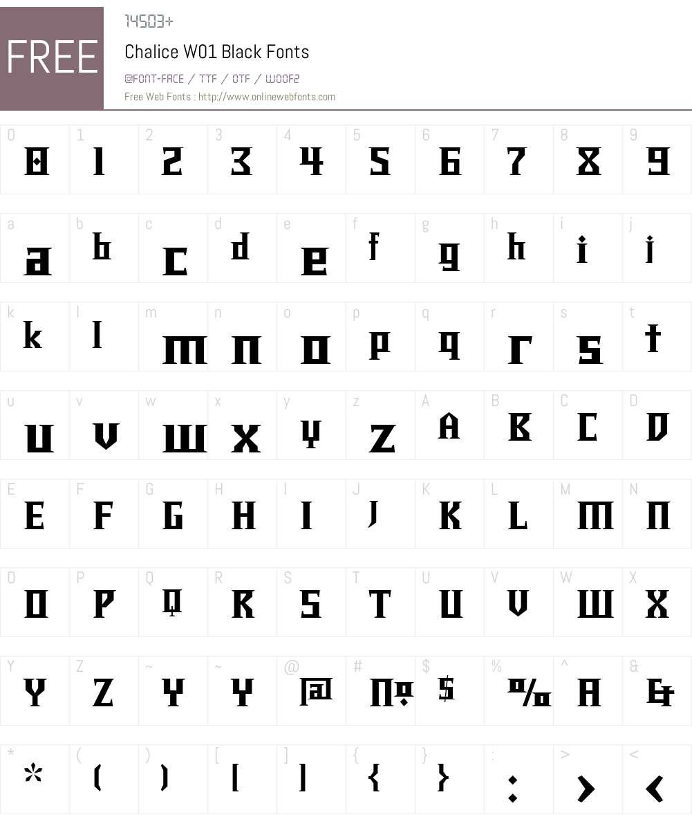ChaliceW01-Black Font Screenshots