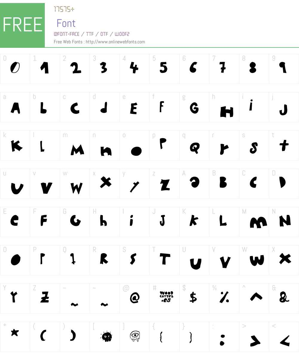 woodcutter MMXII Font Screenshots
