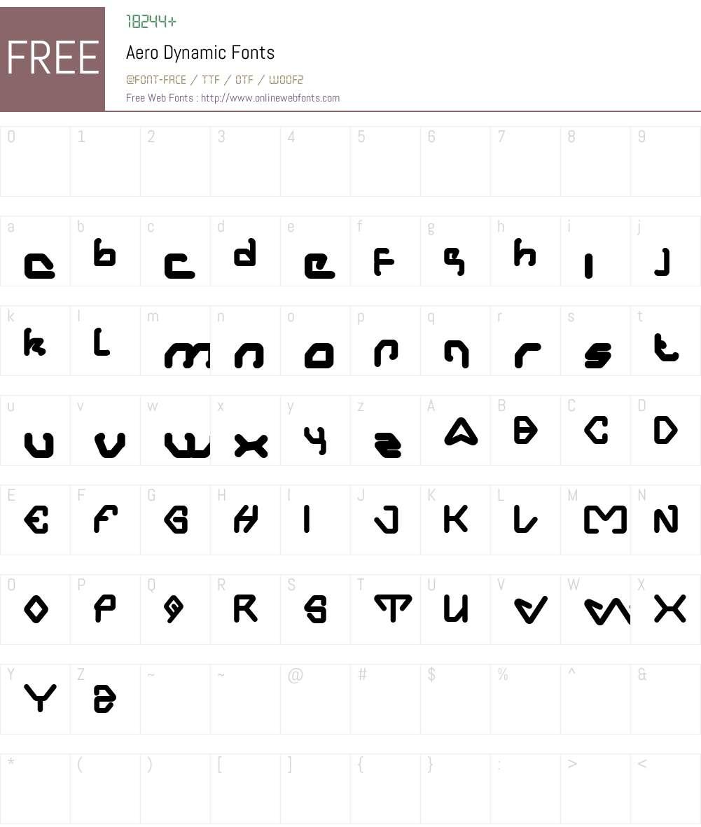 Aero Dynamic Font Screenshots
