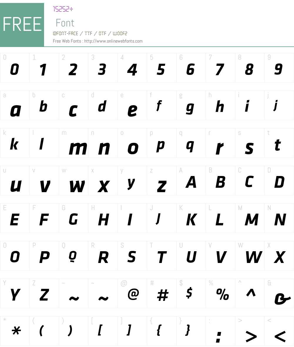 Klavika Font Screenshots