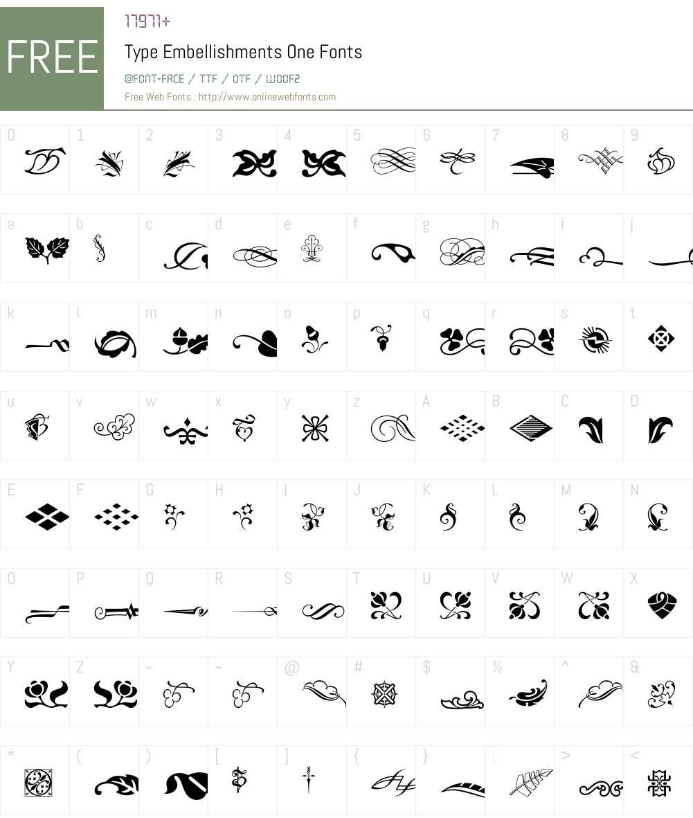 Type Embellishments One Font Screenshots