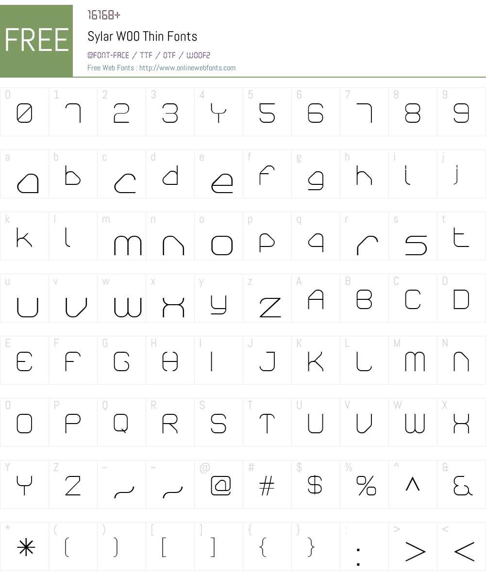 SylarW00-Thin Font Screenshots
