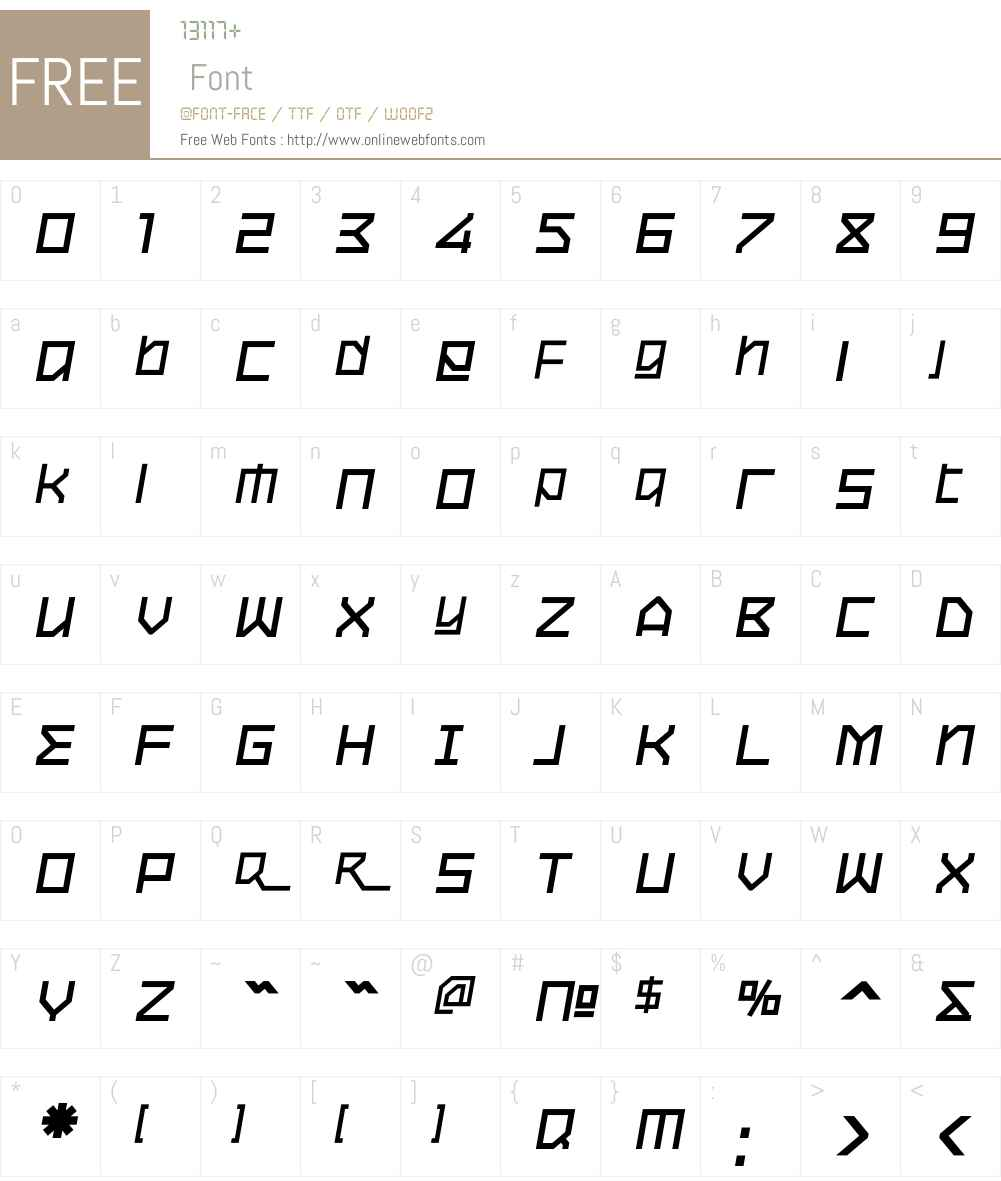 OxygenW01-BoldItalic Font Screenshots