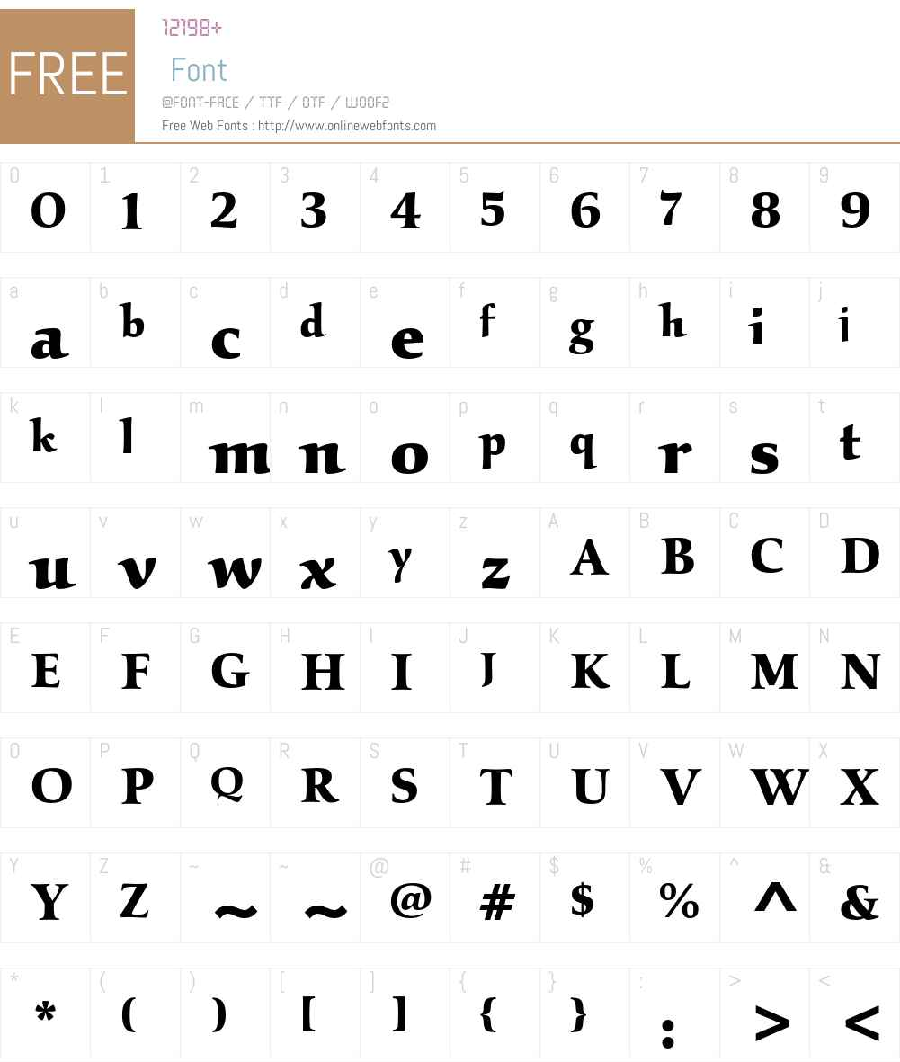 Kallos ITC Std Font Screenshots