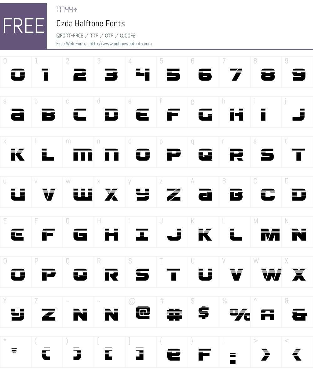 Ozda Halftone Font Screenshots