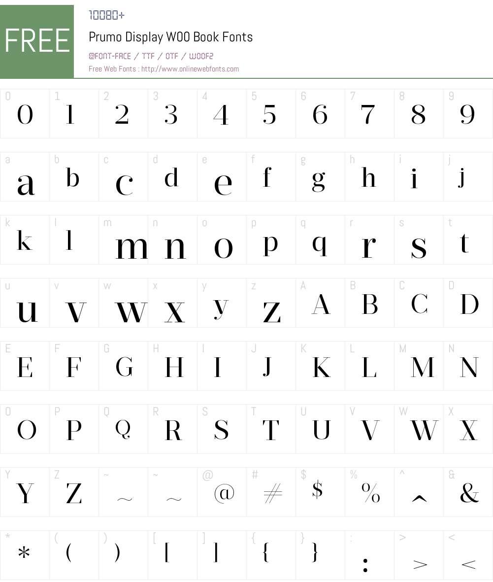 PrumoDisplayW00-Book Font Screenshots