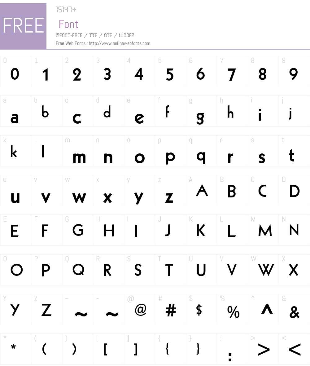Kabel BQ Font Screenshots