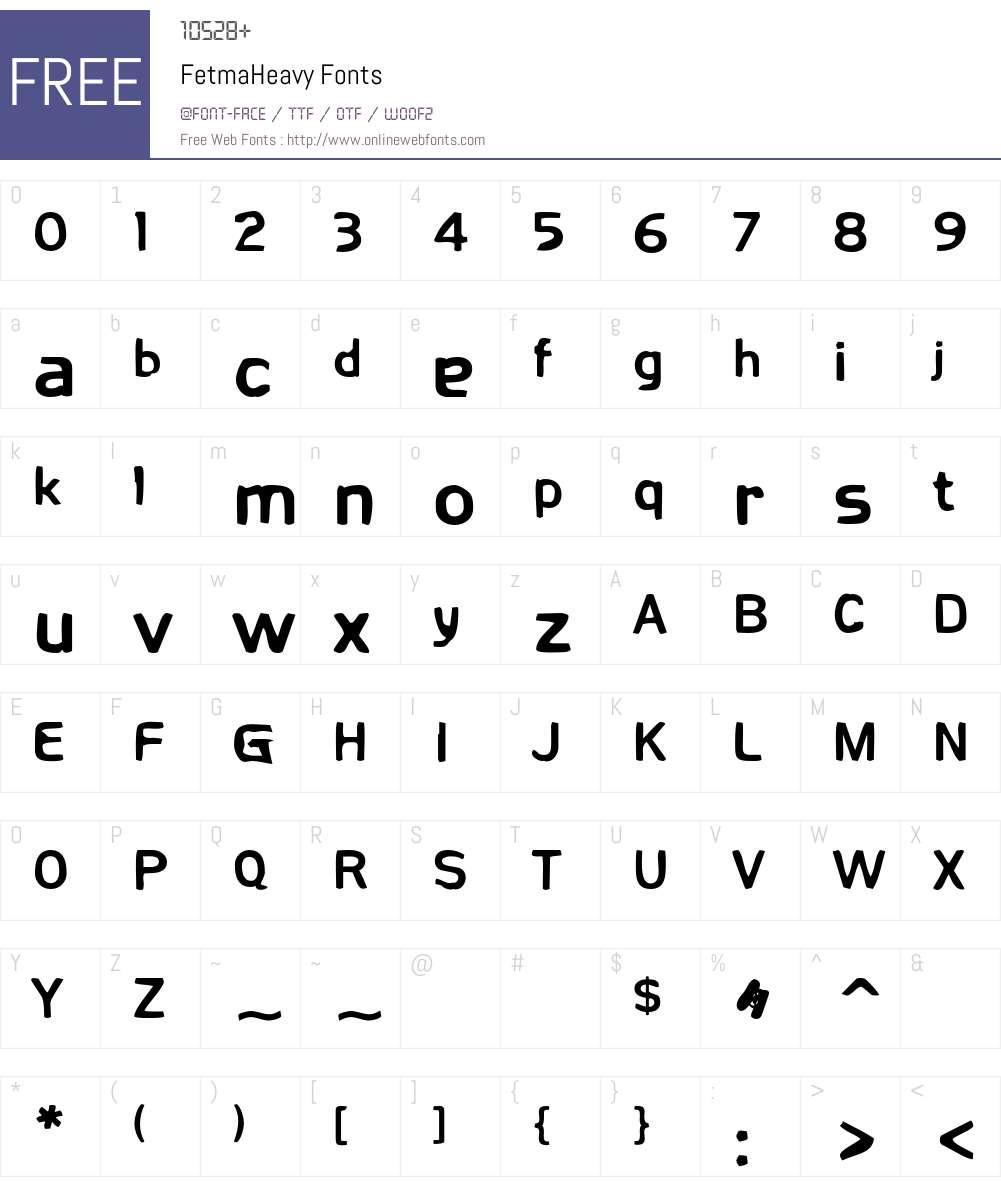Fetma Font Screenshots