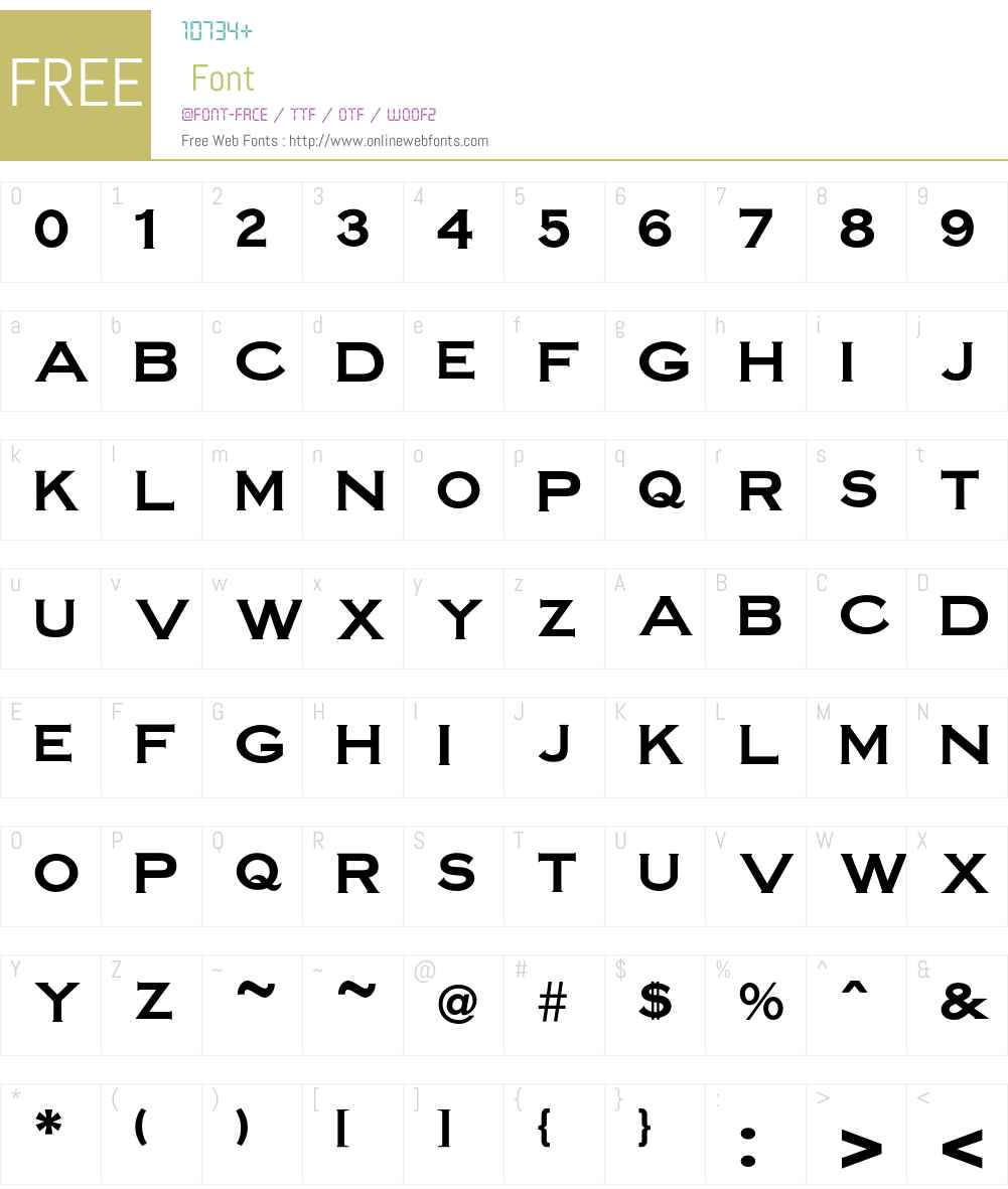 Steelplate Font Screenshots