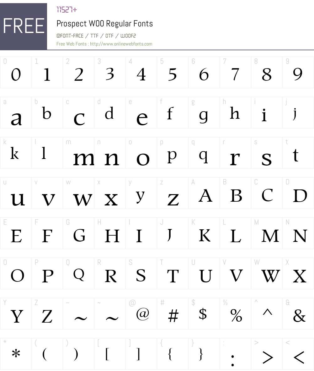 ProspectW00-Regular Font Screenshots