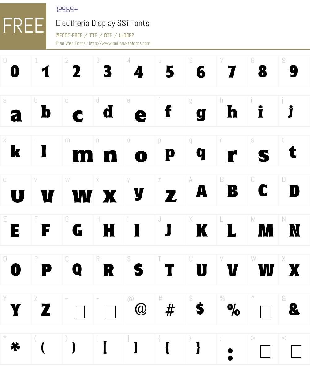 Eleutheria Display SSi Font Screenshots