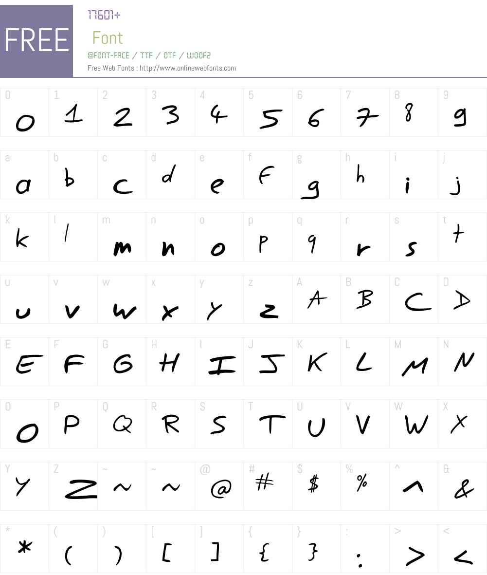 Easy Speech Font Screenshots
