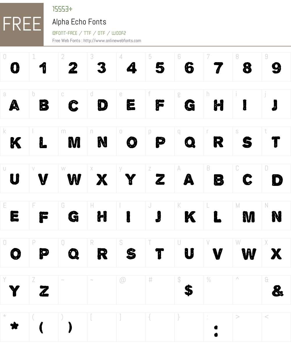 Alpha Echo Font Screenshots