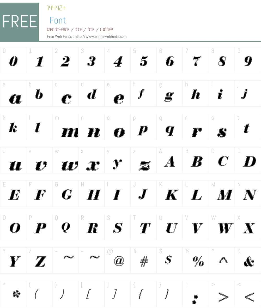 Bauer Bodoni T In1 Font Screenshots