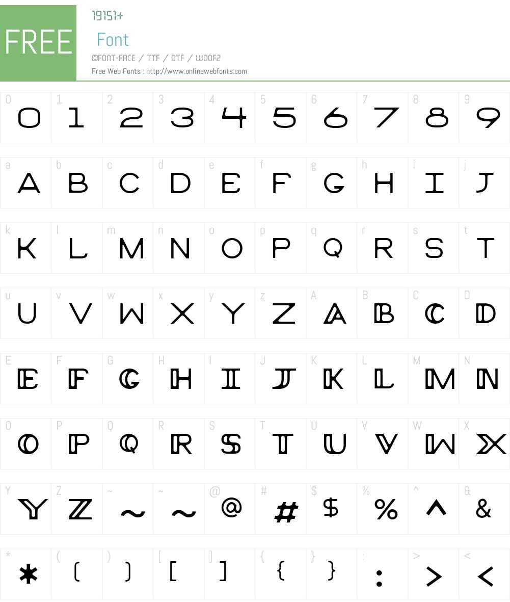 Peruse Font Screenshots