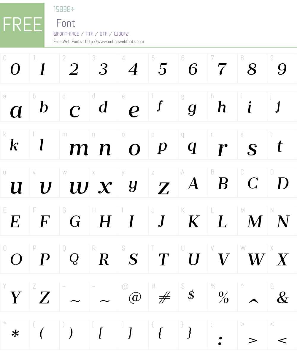 PrumoTextW00-MediumItalic Font Screenshots