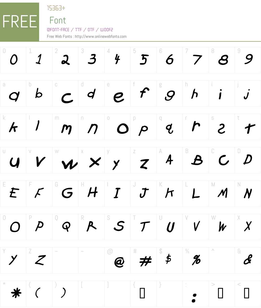 Crayon Font Screenshots
