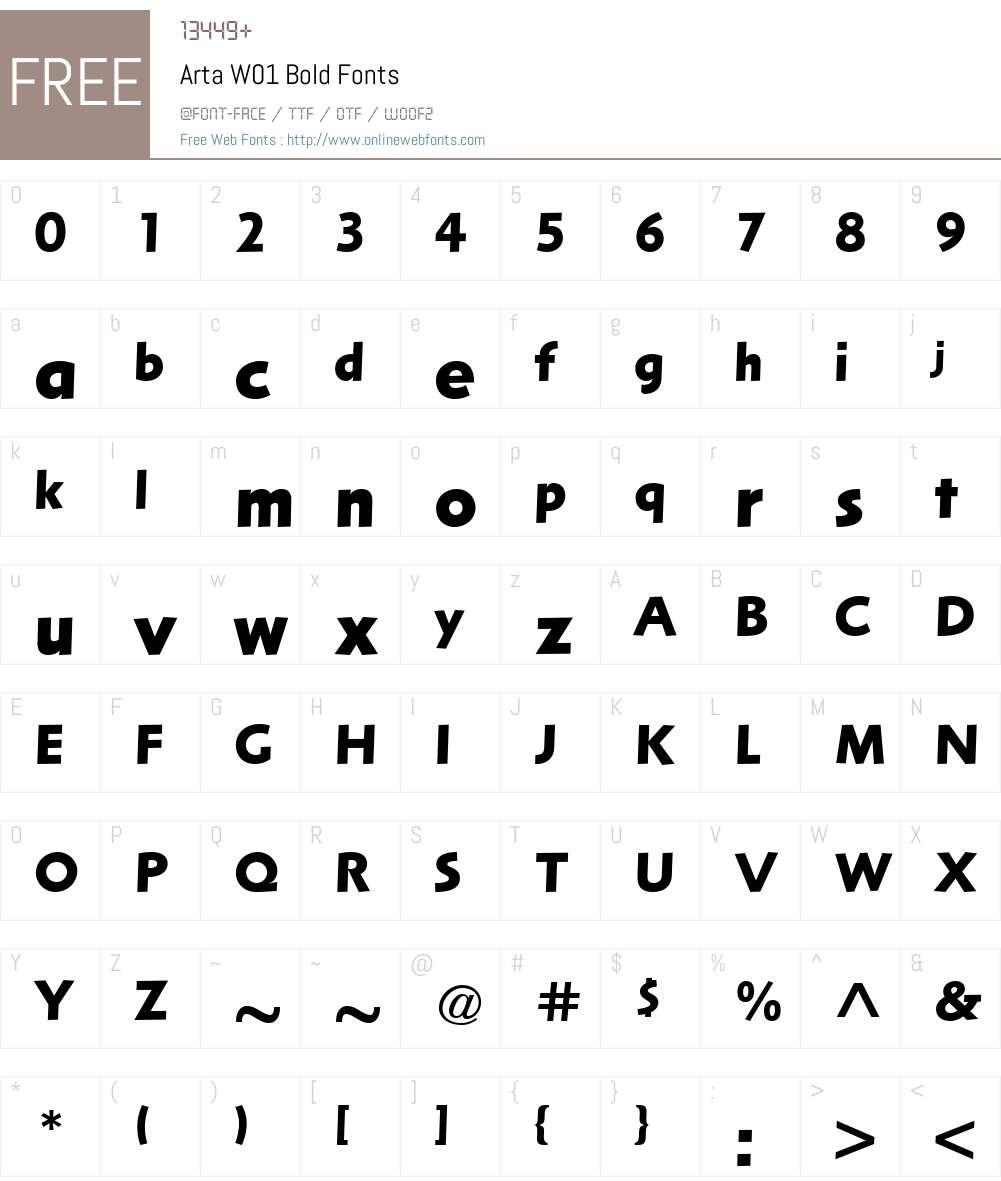 ArtaW01-Bold Font Screenshots