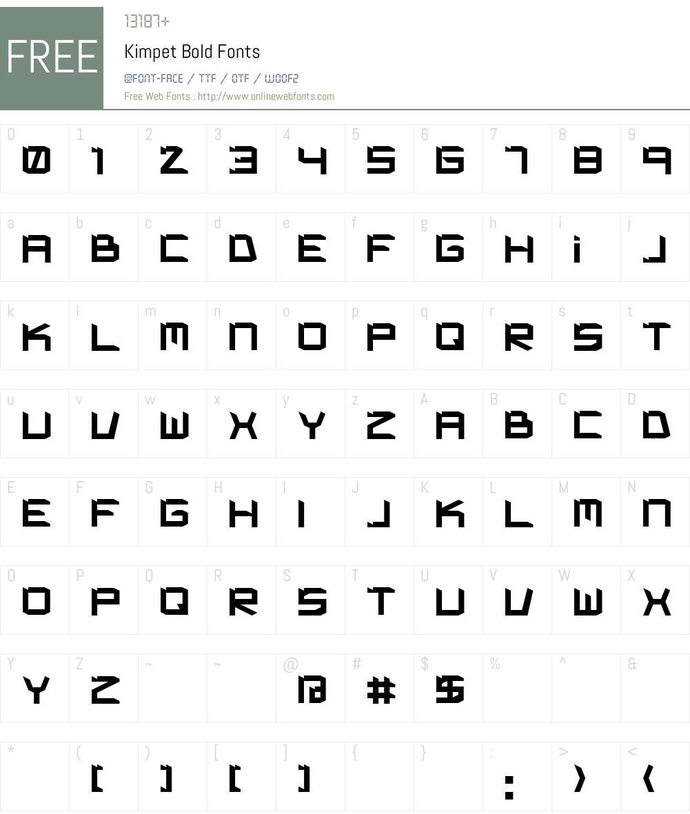 Kimpet Font Screenshots