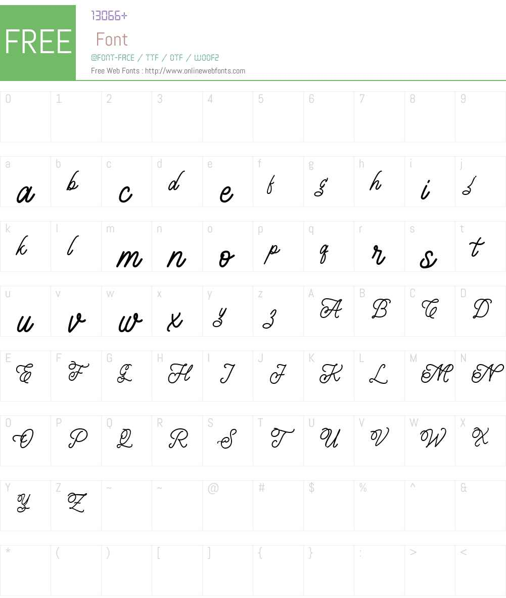 Leightonz FREE Font Screenshots
