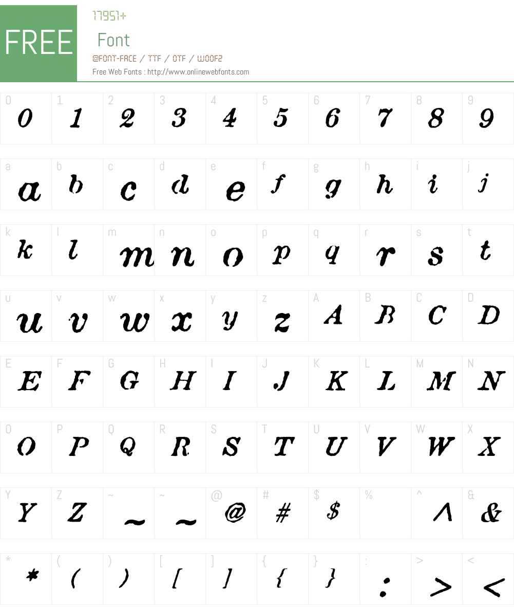 AtticAntique Font Screenshots