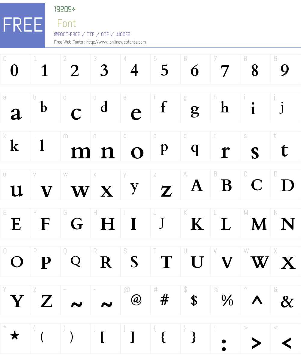 Cardo Font Screenshots