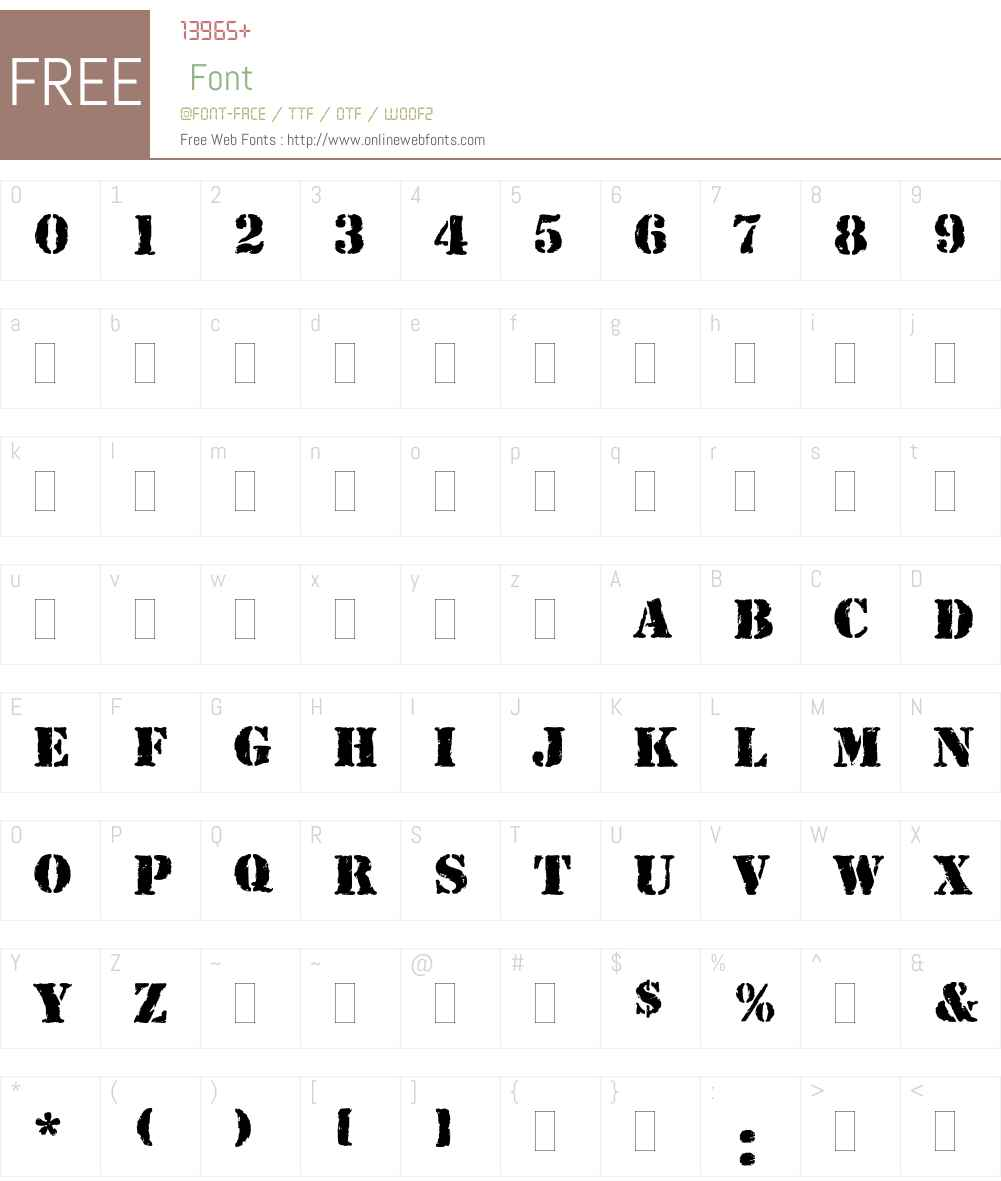 Rubber Stamp Font Screenshots
