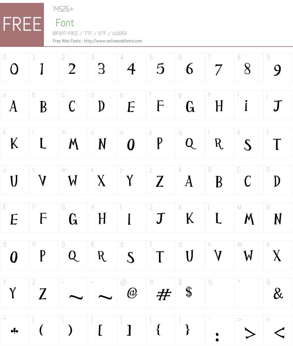 HP PSG Font Screenshots