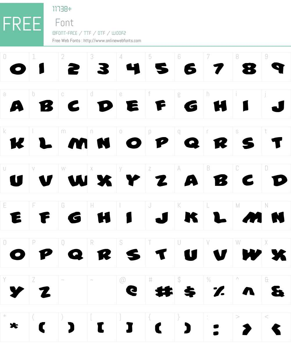 #44 Font Expanded Font Screenshots