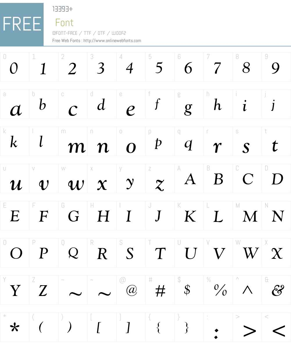 Goudy Catalogue MT Std Font Screenshots