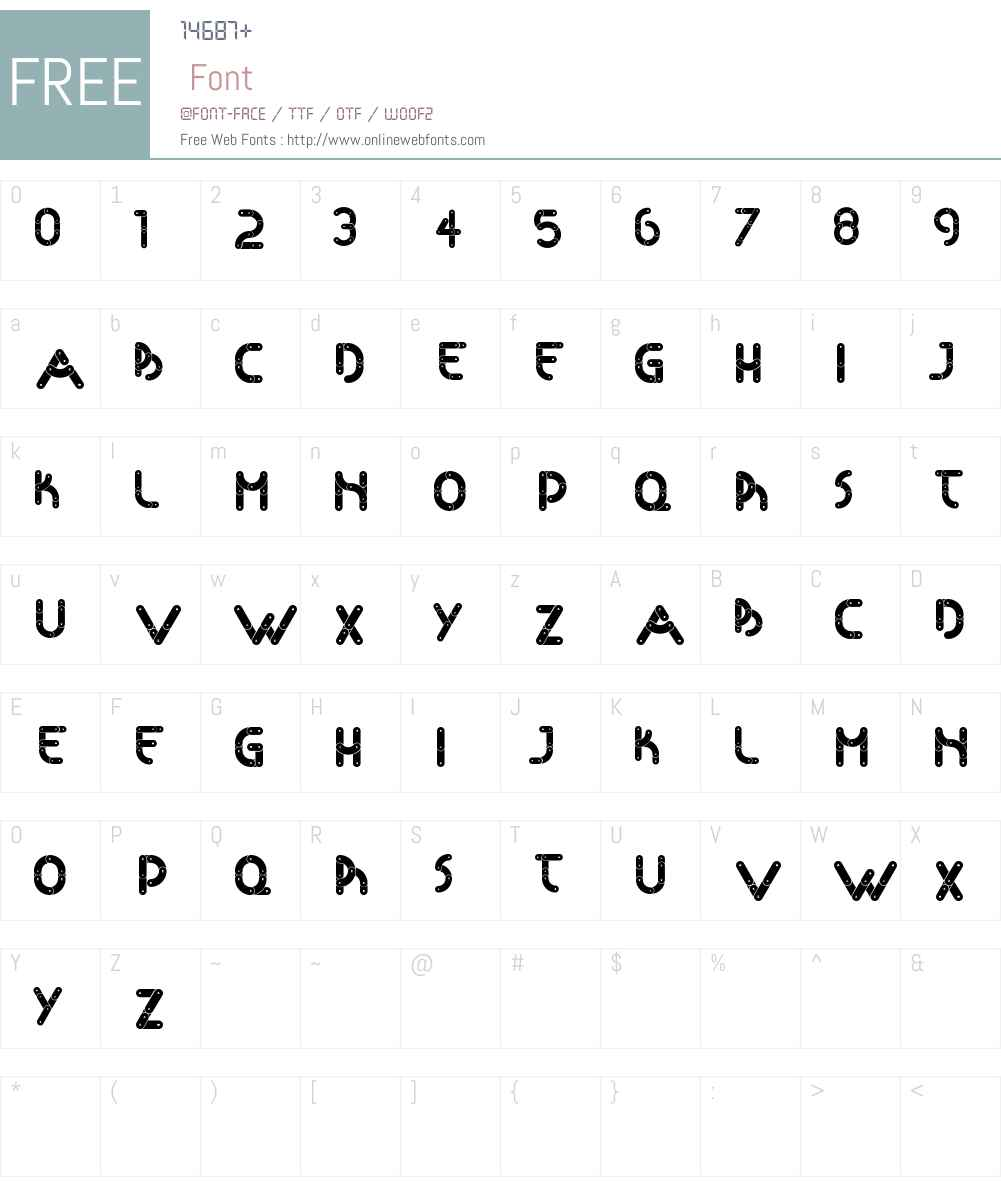 Articulada Font Screenshots