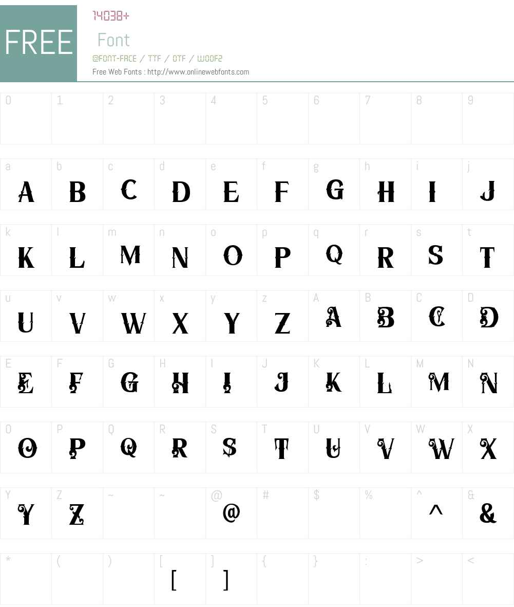 The Panglimul Font Screenshots